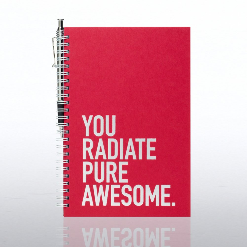 View larger image of Foil-Stamped Journal & Pen Gift Set - Exclamations