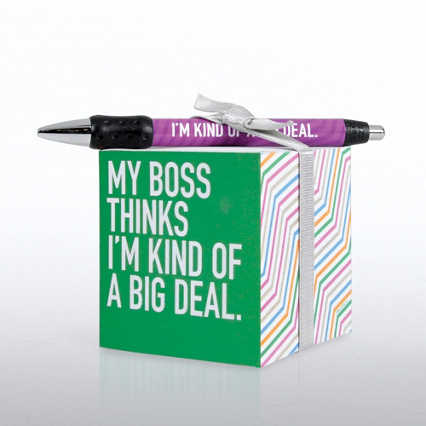 Note Cube & Pen Gift Set - Kind of a Big Deal