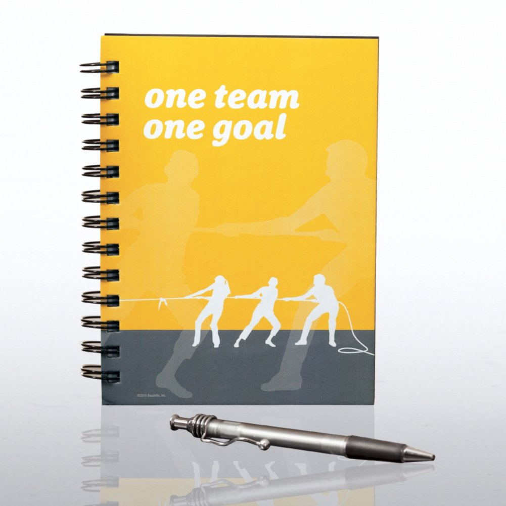 View larger image of Journal & Pen Gift Set - One Team, One Goal
