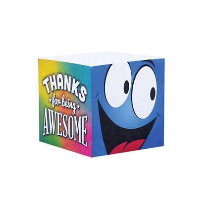 Goofy Guy Note Cube - Thanks