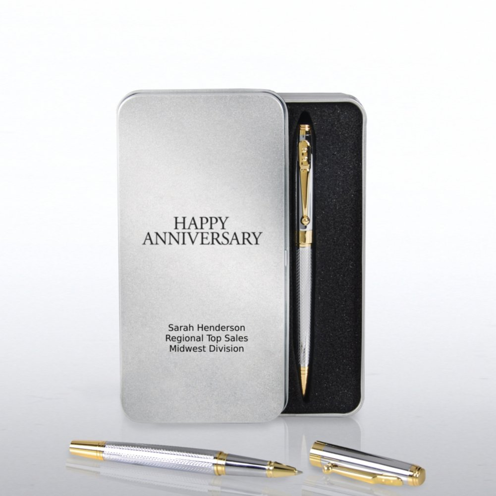 View larger image of Silver and Gold Executive Pen Set