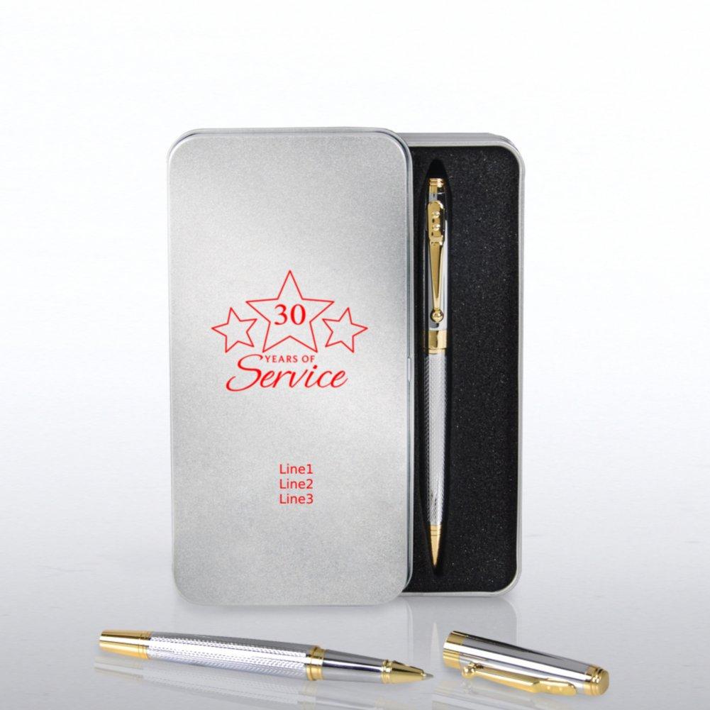 Silver and Gold Executive Pen Set