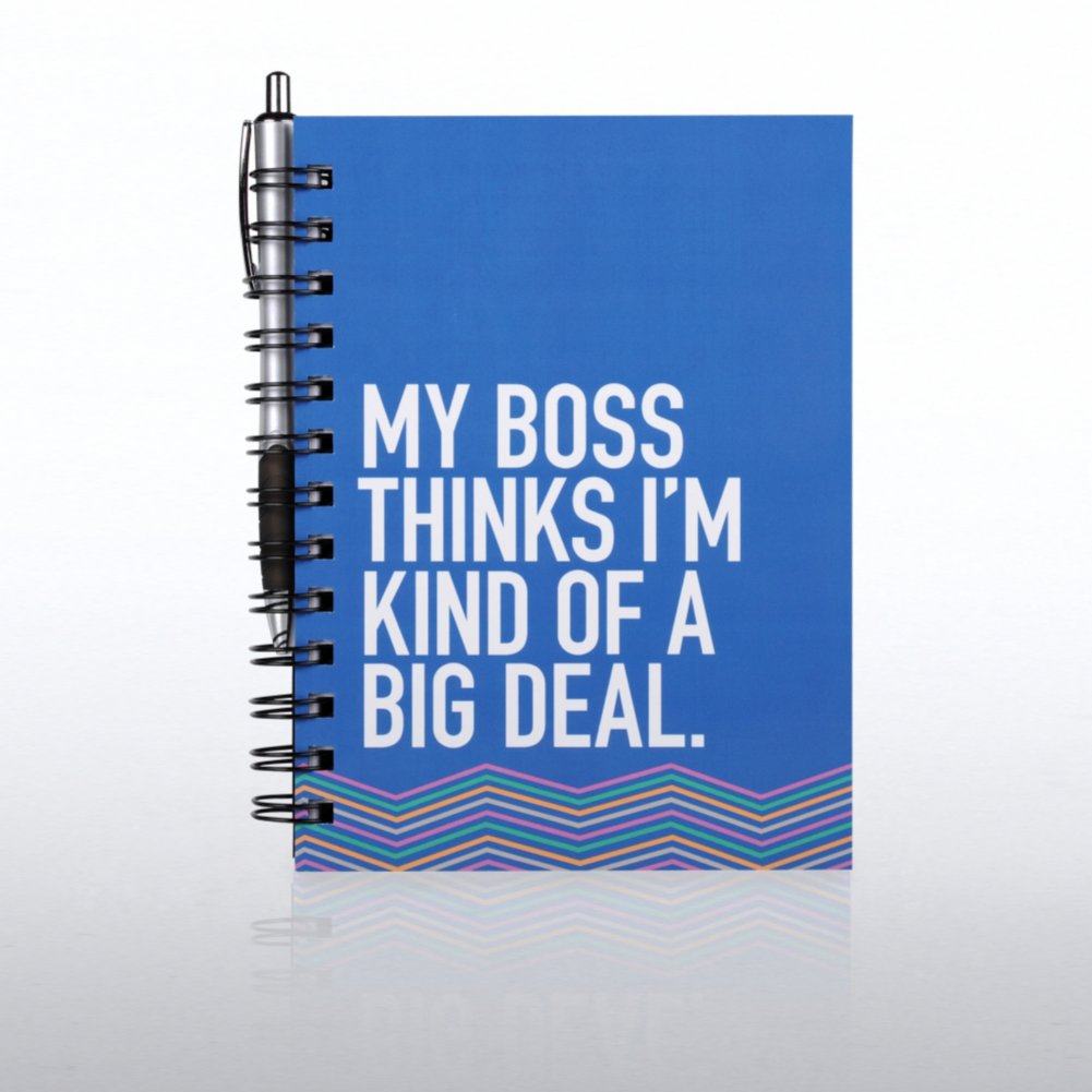 View larger image of Journal & Pen Gift Set - My Boss Thinks I'm a Big Deal