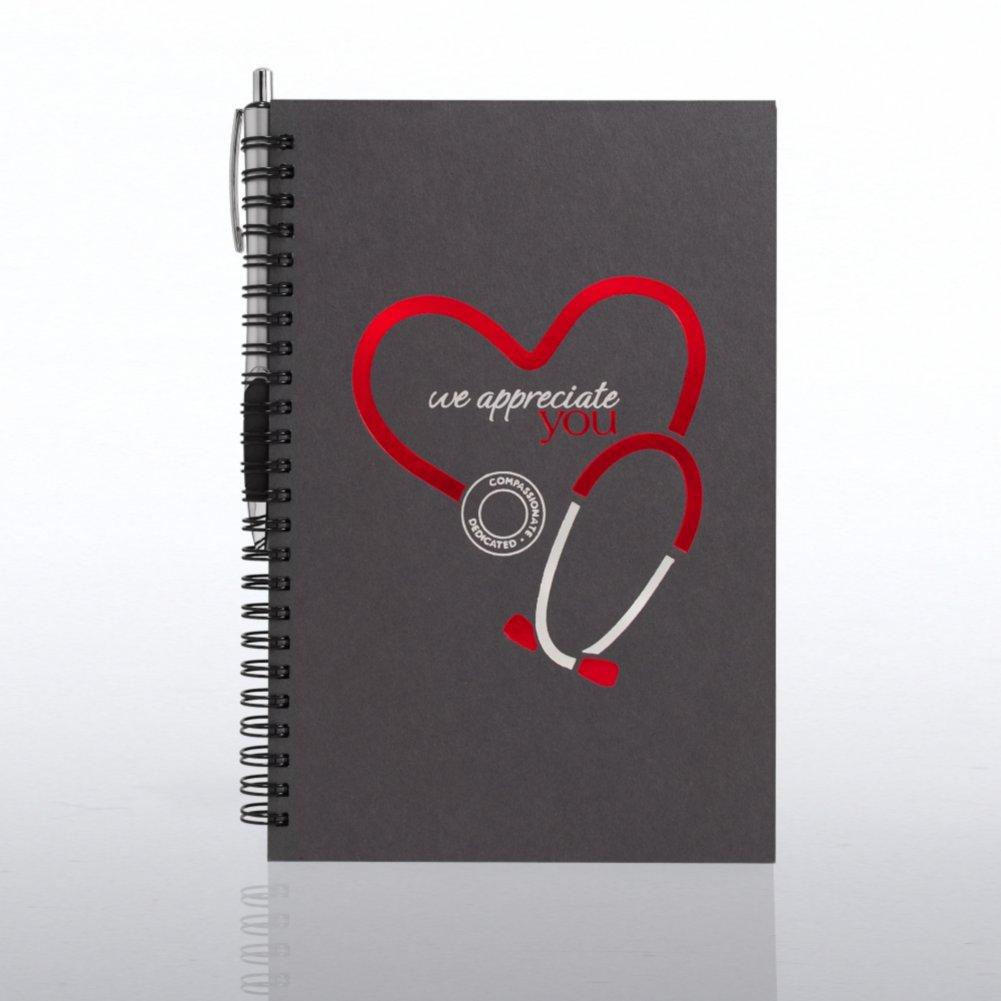 View larger image of Foil-Stamped Journal & Pen Gift Set - Stethoscope