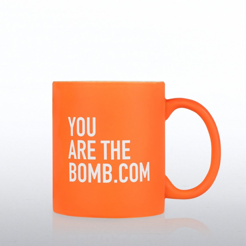 View larger image of Neon Ceramic Mug - You are the Bomb.com