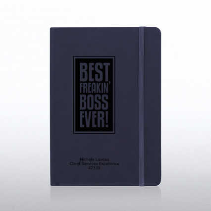 Boss Tuscany  Engraved Journal - Navy