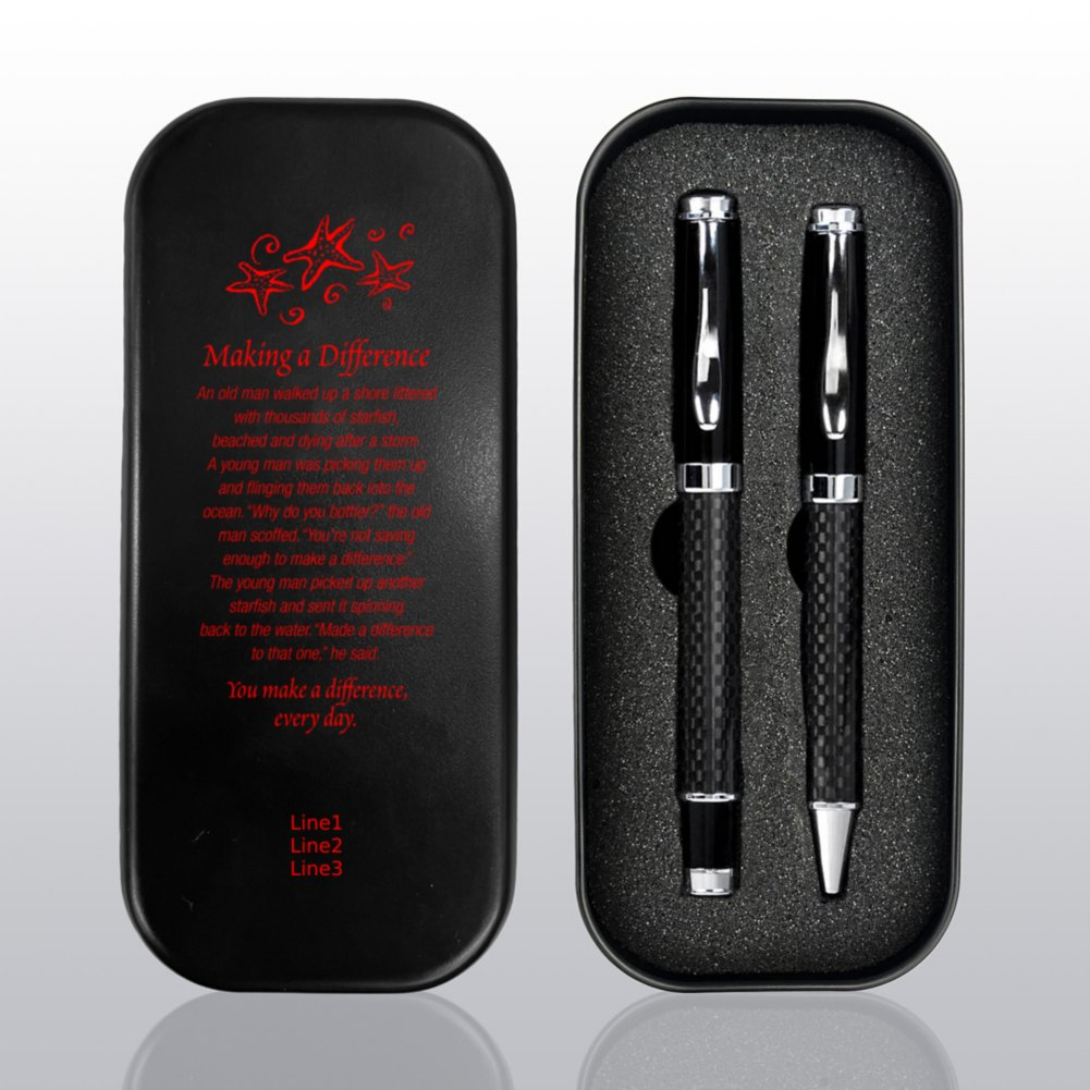 View larger image of Executive Carbon Fiber Pen Gift Set