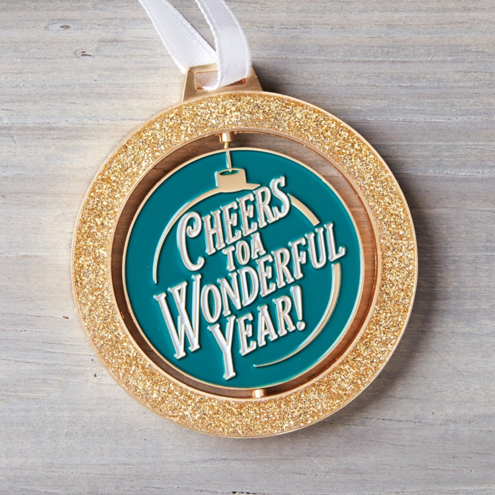 View larger image of Spinner Ornament - Cheers to a Wonderful Year!