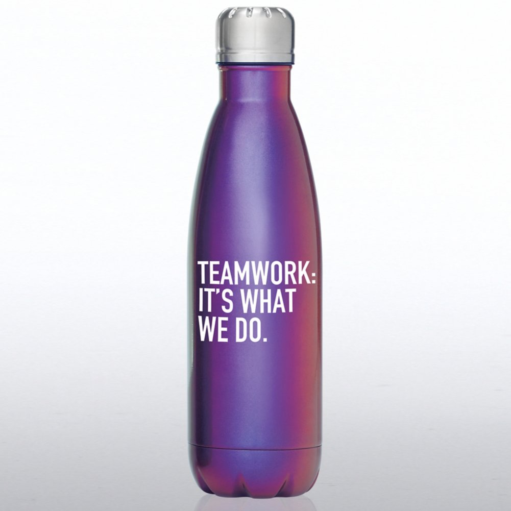 View larger image of Iridescent Bowie Water Bottle - Teamwork: It's What We Do