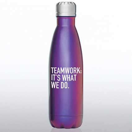 Iridescent Bowie Water Bottle - Teamwork: It's What We Do