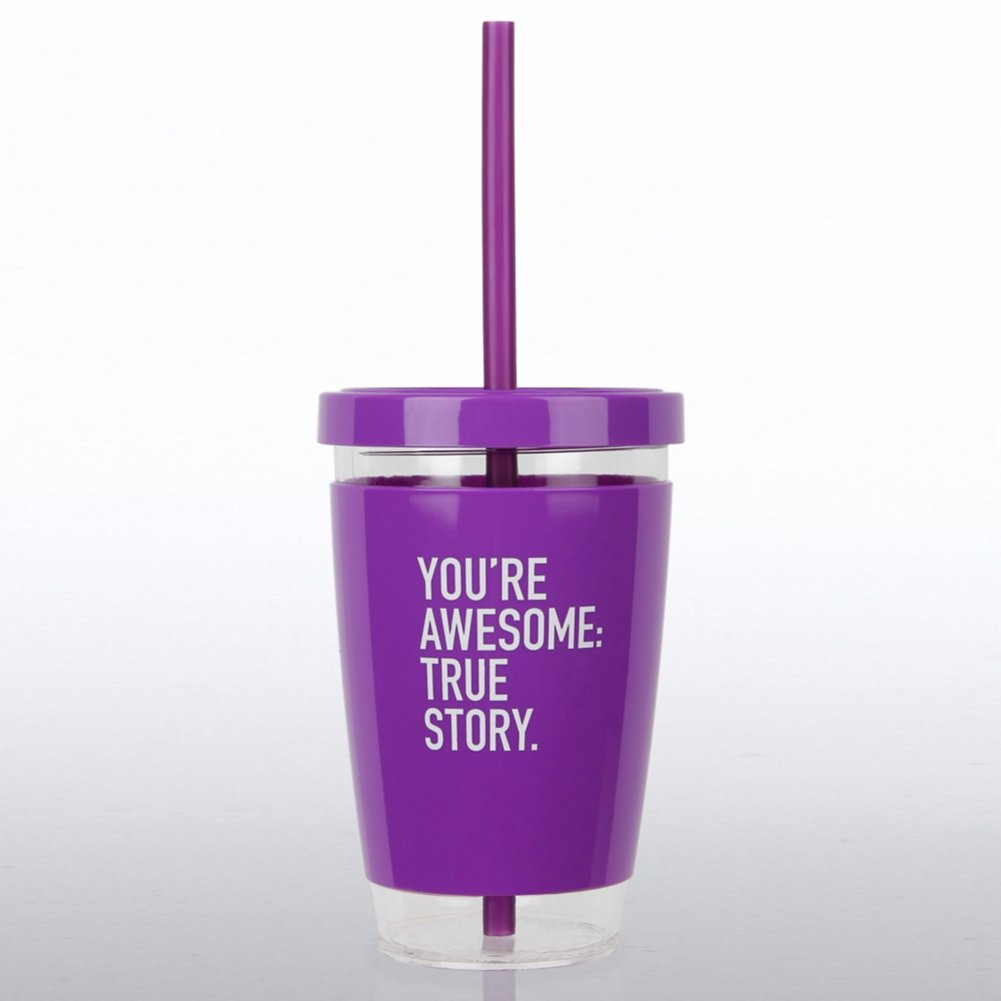 View larger image of Fresh Sips Value Tumbler - You're Awesome: True Story