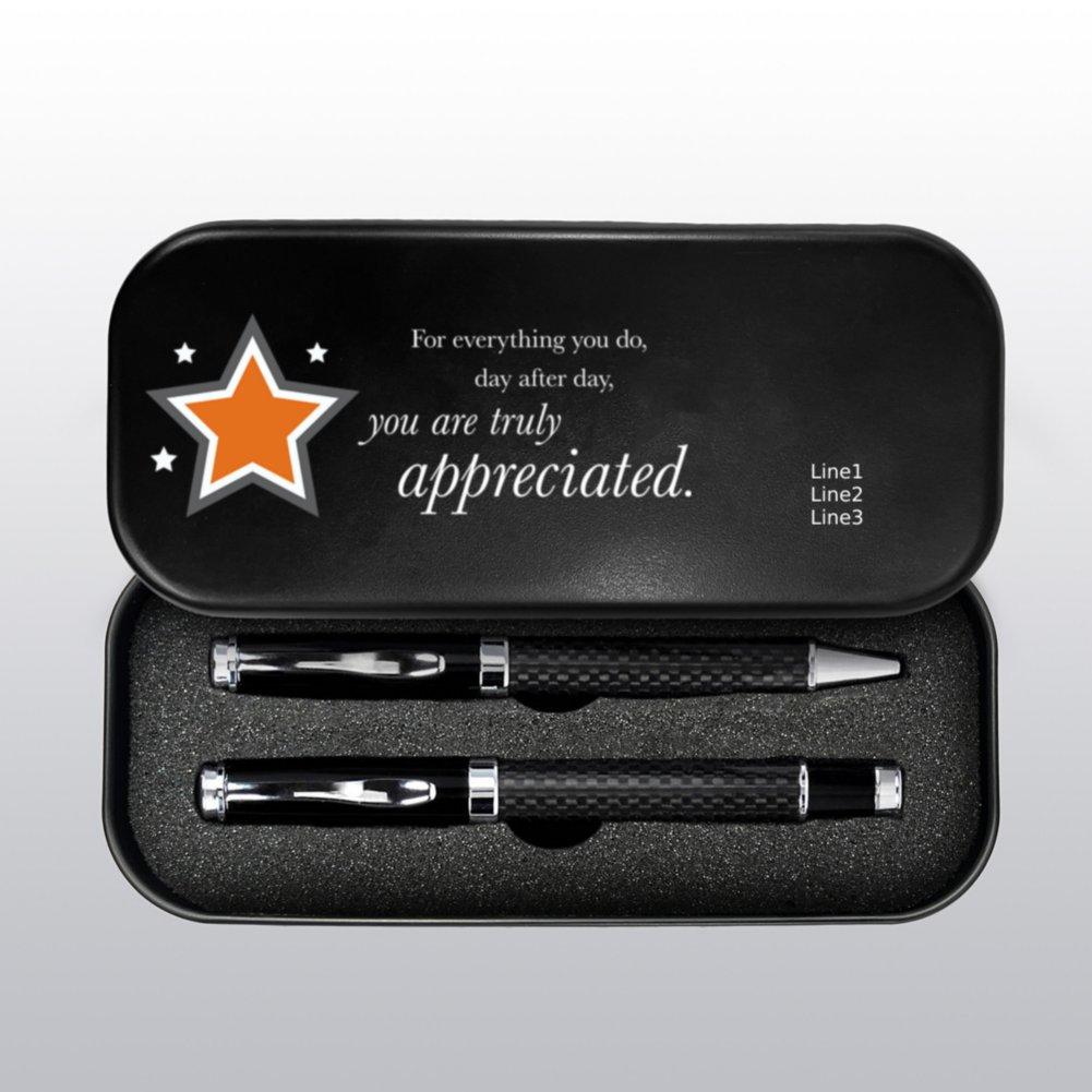 View larger image of Executive Carbon Fiber Pen Set - Custom