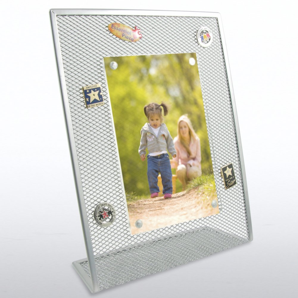 View larger image of Mesh Desktop Frame - Silver