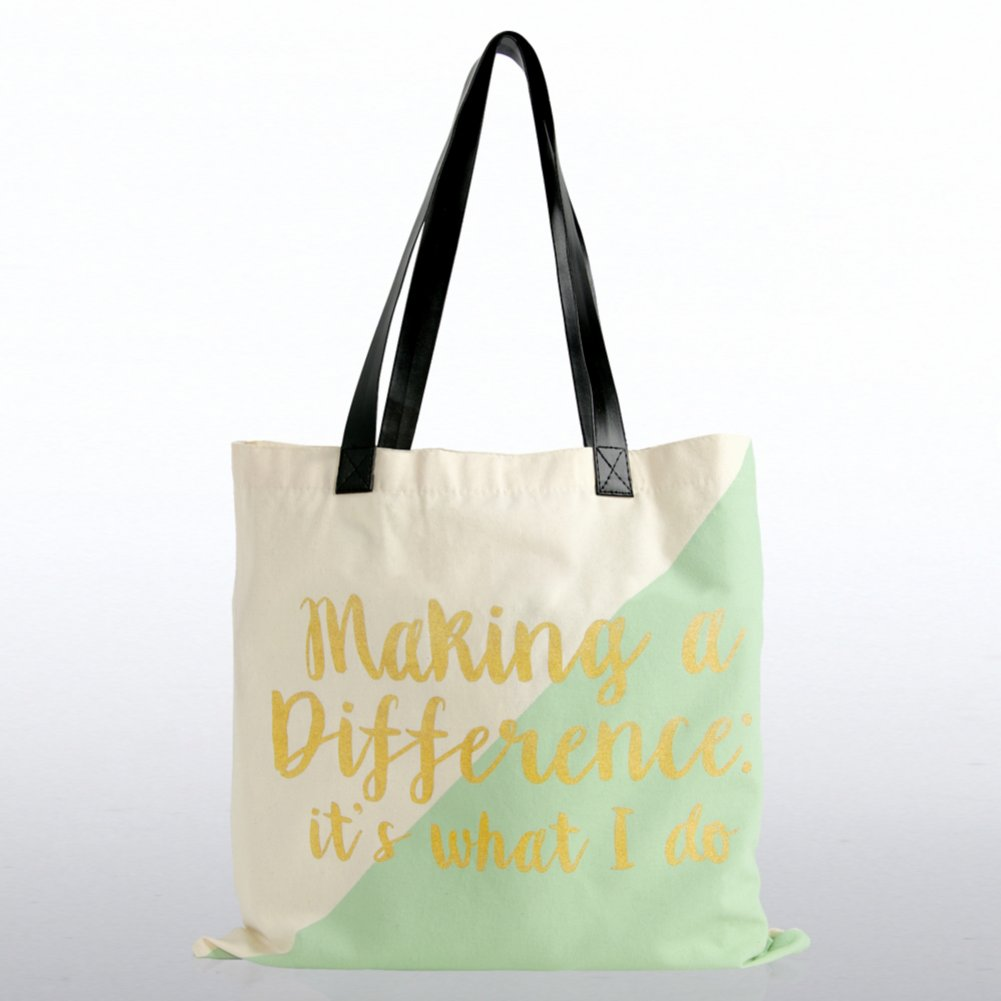 Metallic Tote Bag - Making a Difference It's What I Do