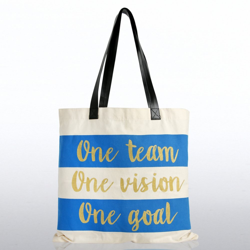 View larger image of Metallic Tote Bag - One Team. One Vision. One Goal