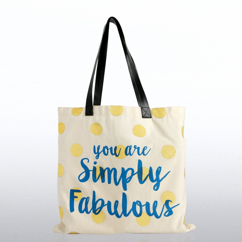 View larger image of Metallic Tote Bag - You Are Simply Fabulous