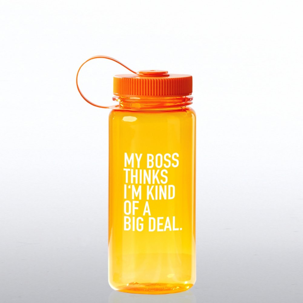 View larger image of Value Wide Mouth Wellness Bottle - My Boss Thinks...