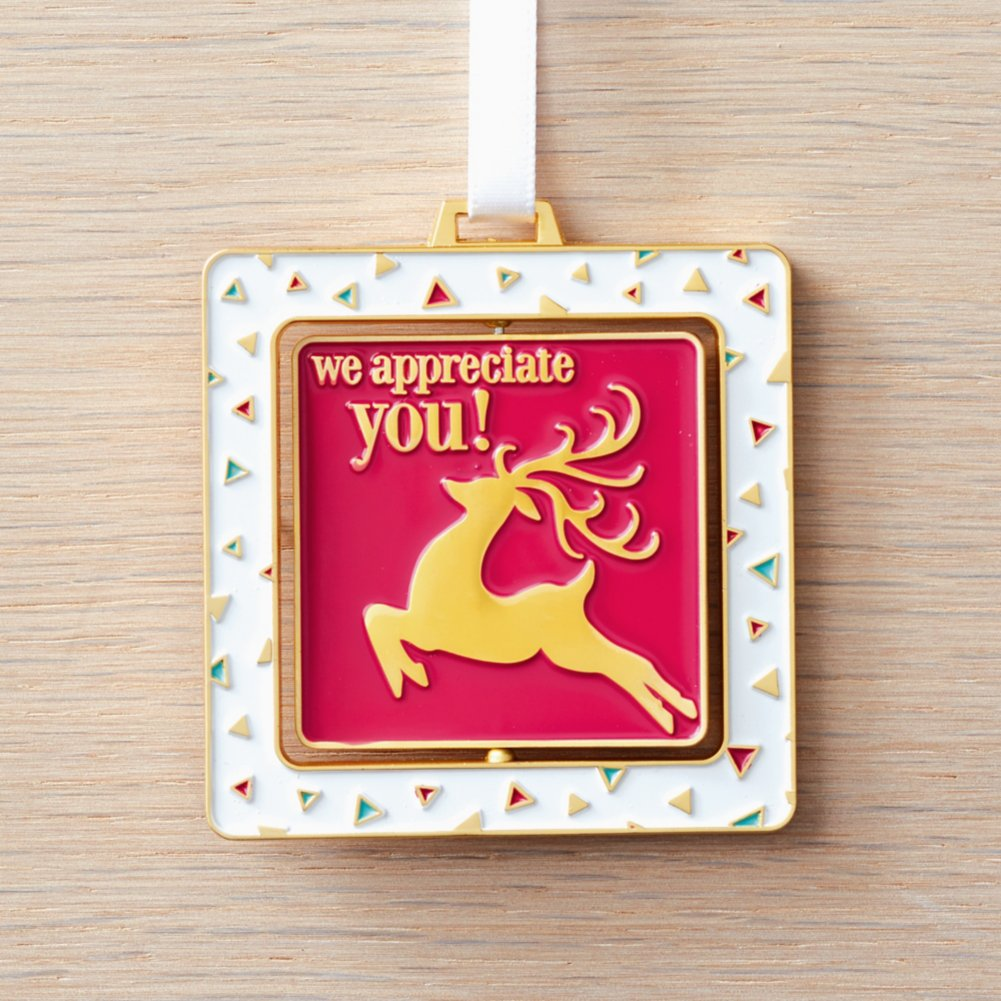 View larger image of Spinner Ornament - We Appreciate You - Contemporary Reindeer