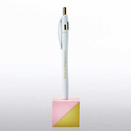 Chic Office Pen with Stand - Thanks for Being Awesome