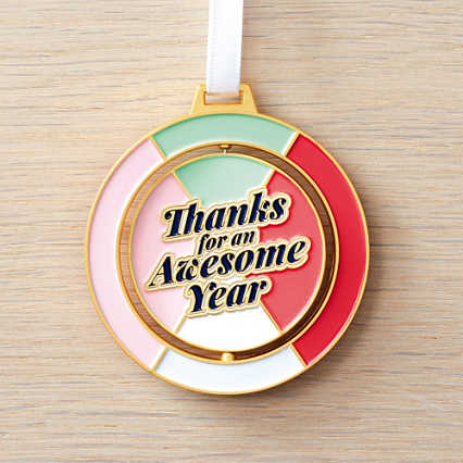Spinner Ornament - Thanks For An Awesome Year