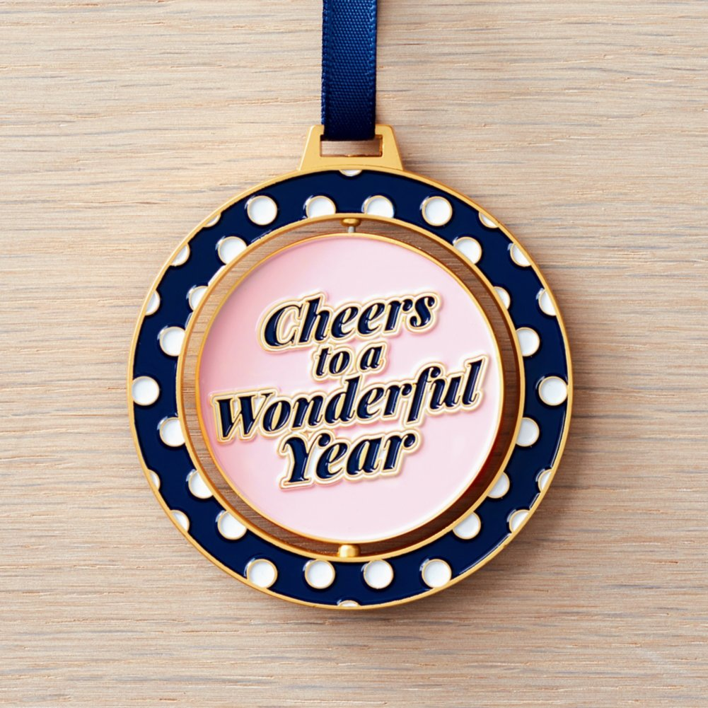 View larger image of Spinner Ornament - Cheers To A Wonderful Year