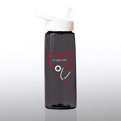 Healthy Vibes Water Bottle - We Appreciate You Stethoscope