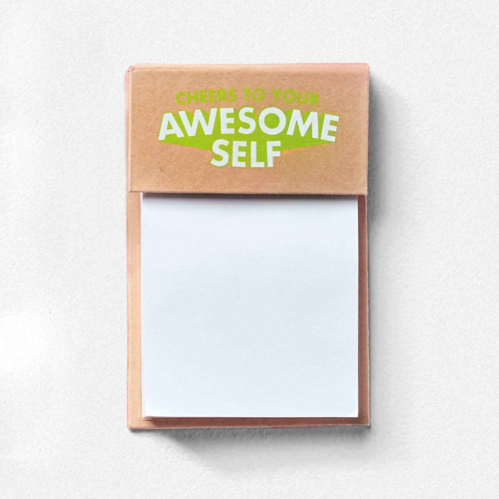 View larger image of Value Sticky Notepad - Cheers To Your Awesome Self