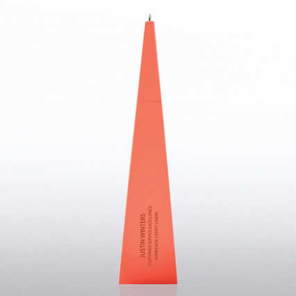 Personalized Pyramid Pen - Coral Triangle