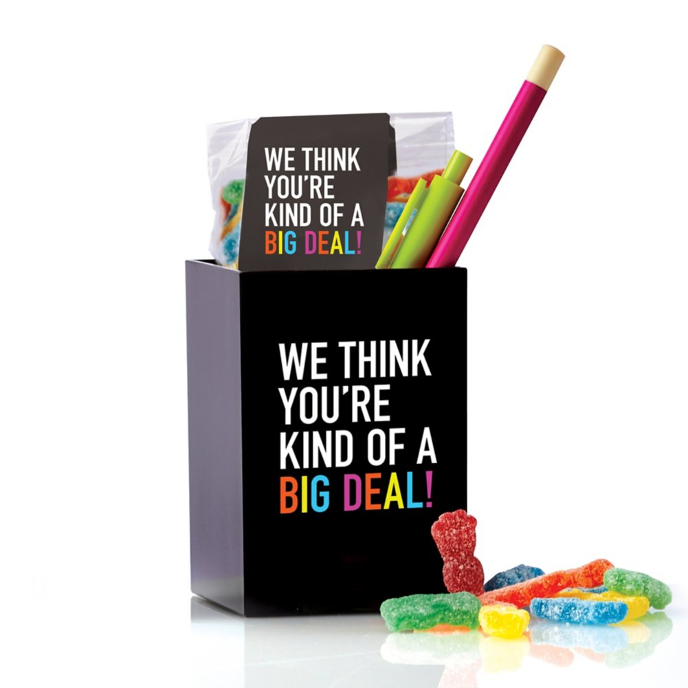 Hello Awesome Pen Cup Set - Black