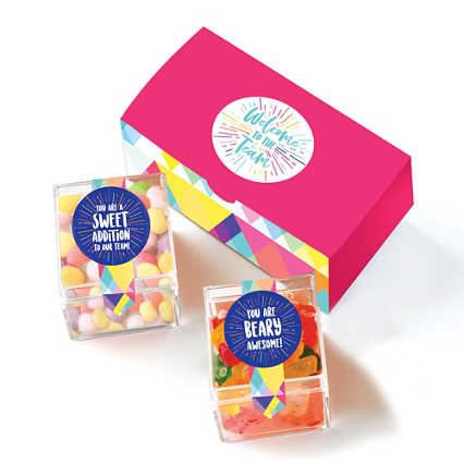 Sweet Welcome Candy Cubes - Welcome