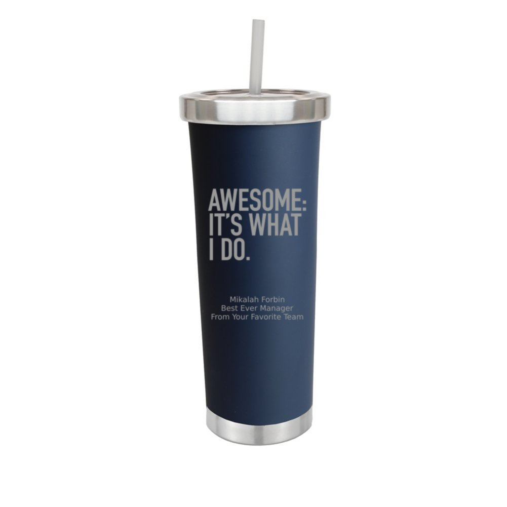 View larger image of Personalized Tall Stainless Steel Tumbler