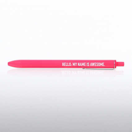 Poppin Retractable Gel Pen - Hello: My Name Is Awesome
