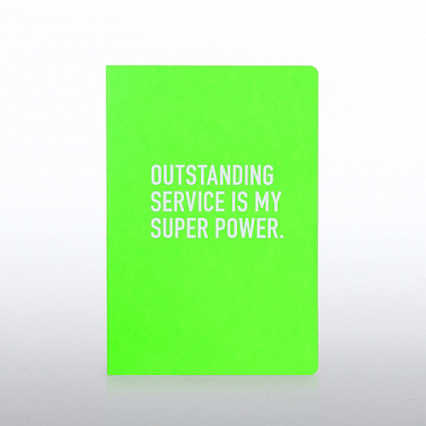 Neon Journal - Outstanding Service is My Super Power