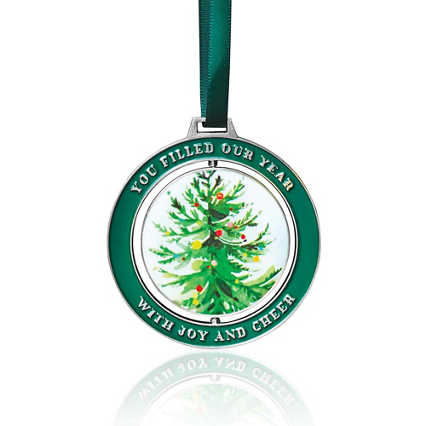 Holiday Spinner Ornament - Joy and Cheer