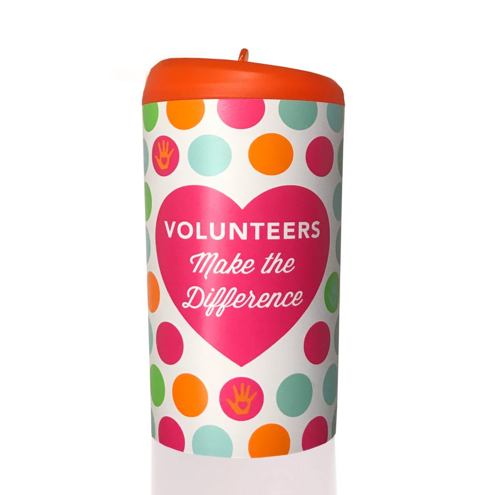 Pop-Top Water Bottle - Volunteers Make The Difference