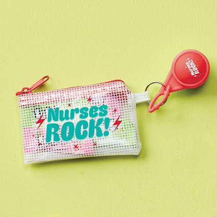 Clearly Valued Coin Pouch and Lip Balm Gift Set - Nurses Rock