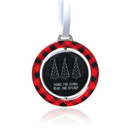 Holiday Spinner Ornament - Going Above And Beyond! Plaid