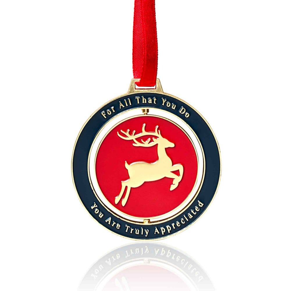 View larger image of Holiday Spinner Ornament - We Appreciate You
