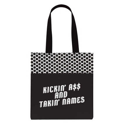 Value Polka Dot Totes - Kickin' A and Takin' Names