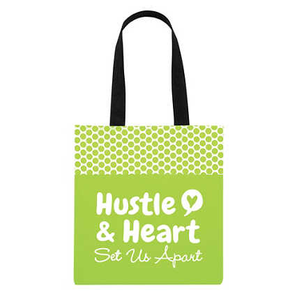Value Polka Dot Totes - Hustle & Heart Set Us Apart