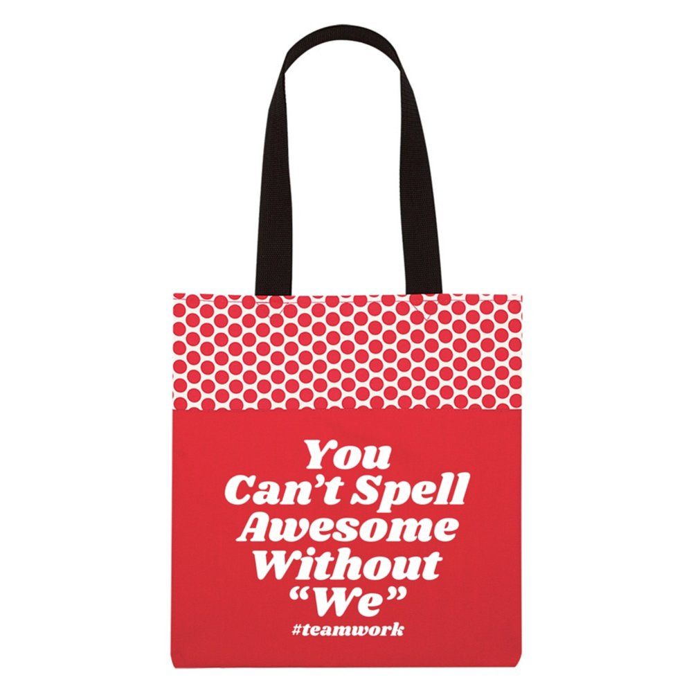 """View larger image of Value Polka Dot Totes - You Can't Spell Awesome Without """"We"""""""