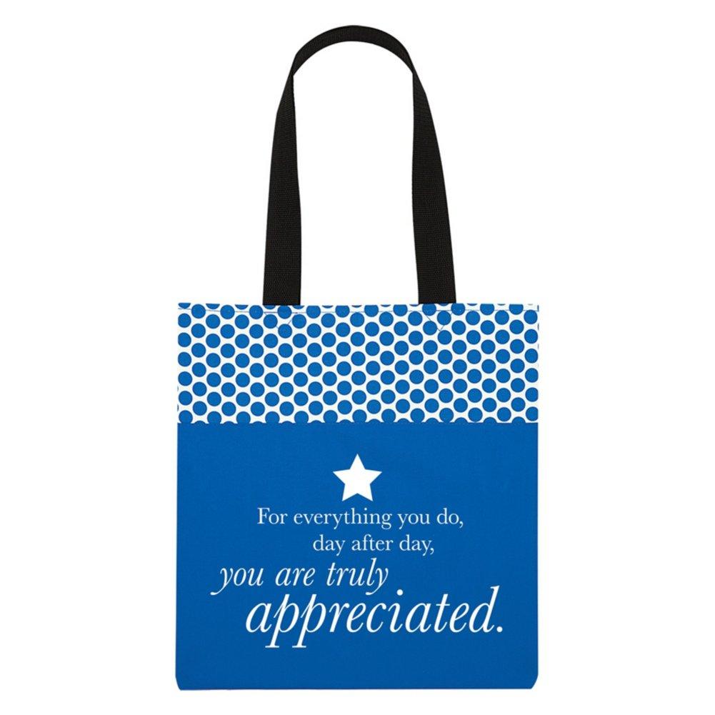 View larger image of Value Polka Dot Totes - You Are Truly Appreciated