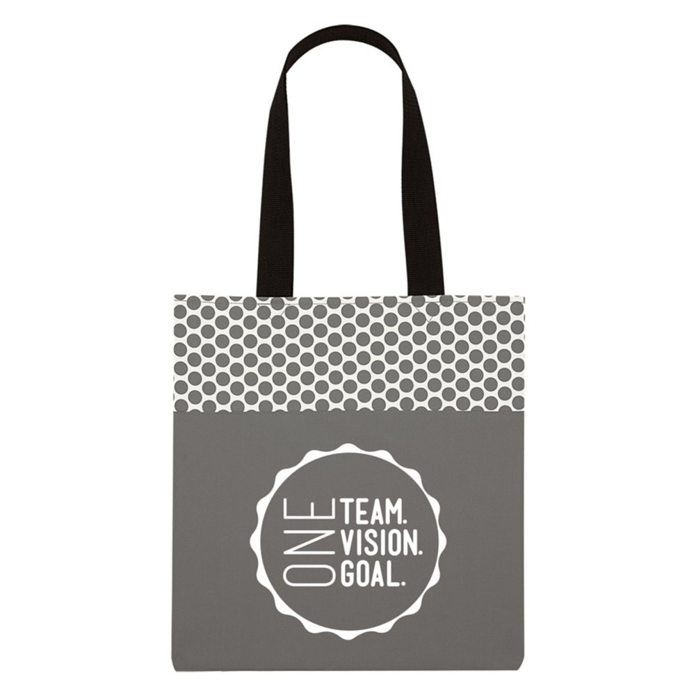 View larger image of Value Polka Dot Totes - One Team. One Vision. One Goal.
