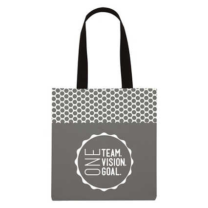 Value Polka Dot Totes - One Team. One Vision. One Goal.