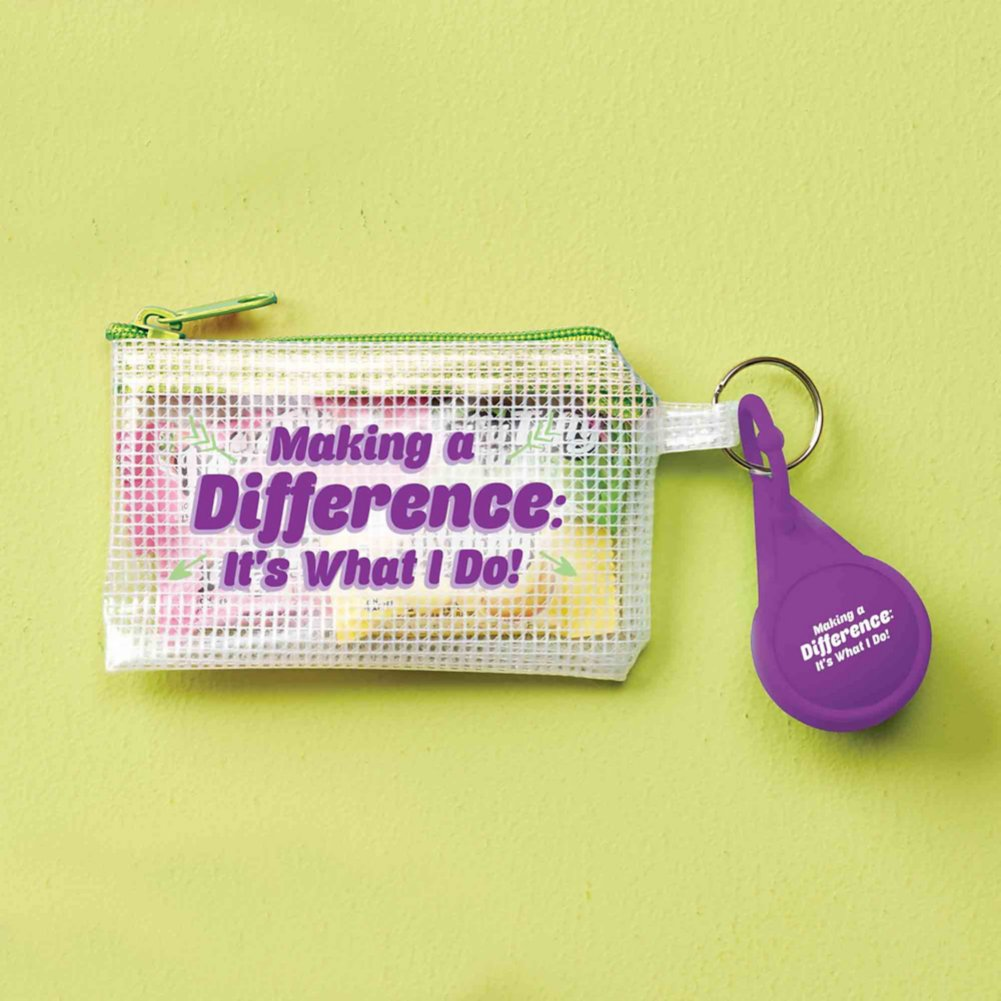 View larger image of Clearly Valued Coin Pouch and Lip Balm Gift Set - Making a Difference