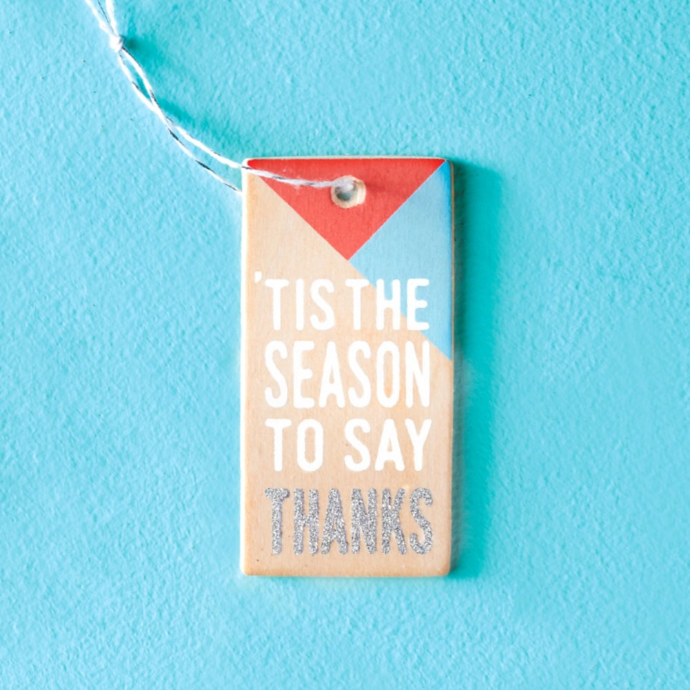 View larger image of Festive Value Ornament - 'Tis The Season To Say Thanks