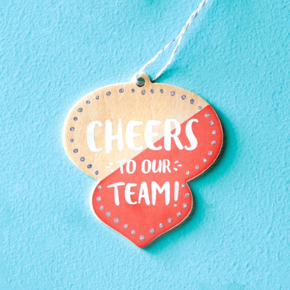 View larger image of Festive Value Ornament - Cheers To Our Team
