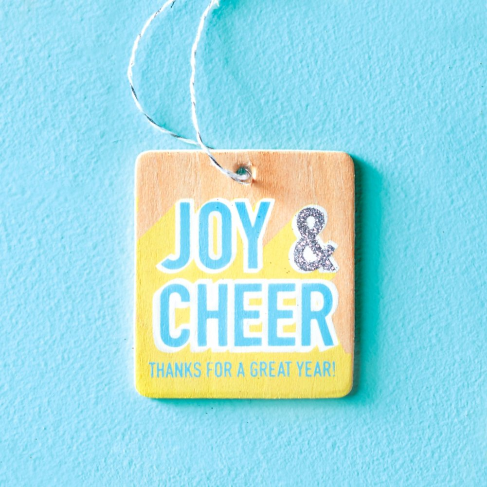 View larger image of Festive Value Ornament - Joy & Cheer Thanks For A Great Year