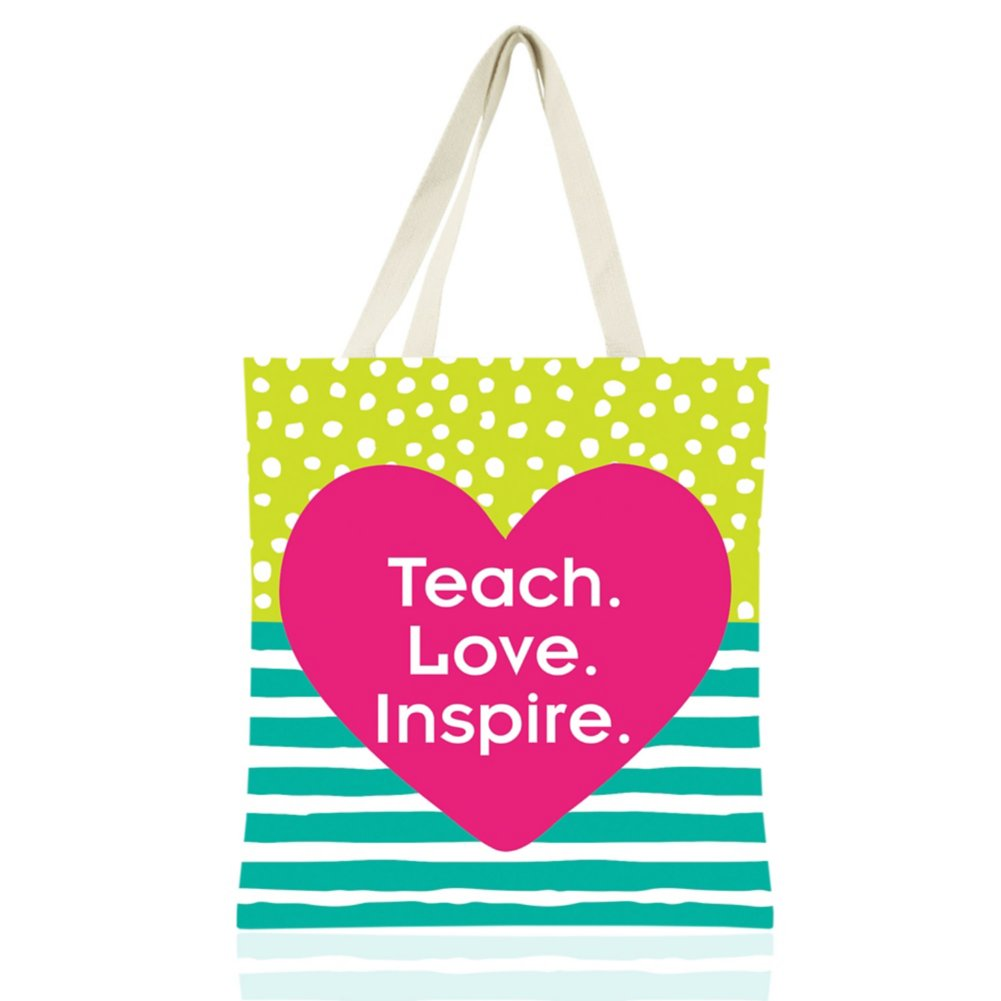 View larger image of Colorific Tote - Teach. Love. Inspire.