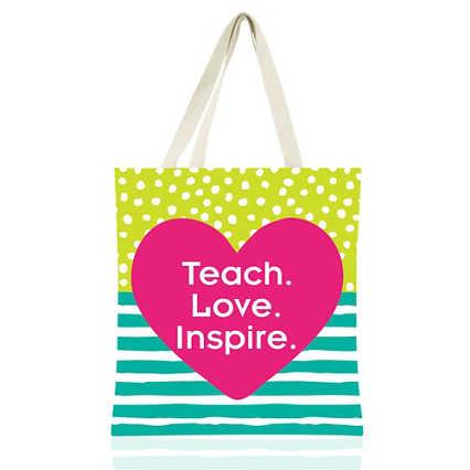 Colorific Tote - Teach. Love. Inspire.